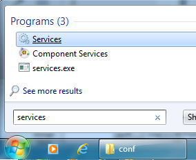 Install Apache Service di Windows - Menjalankan services.msc