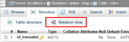 link_relation_view_phpmyadmin4.5