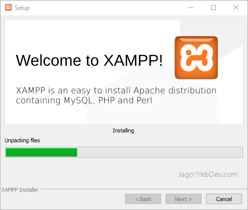 Install XAMPP di Windows - Proses Install
