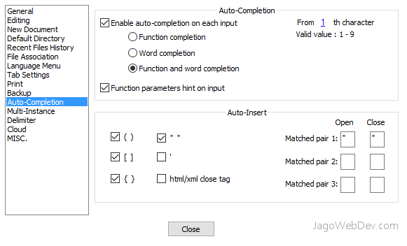 Fitur Notepad++ - Auto Completion