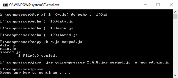 Kompres File Javascript Otomatis Dengan YUI Compressor - Bat File
