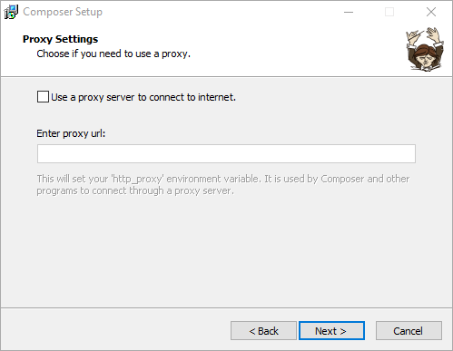 Install Composer di Windows - Setting Proxy