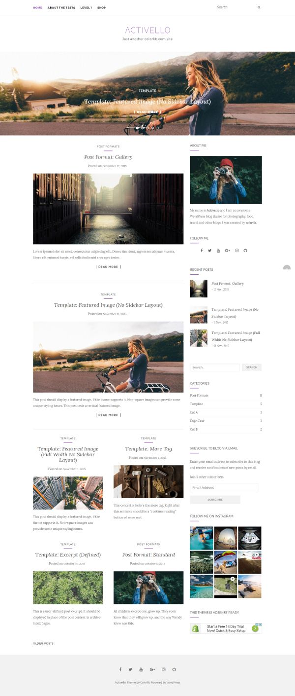 Activello - Theme WordPress Gratis Untuk Blog