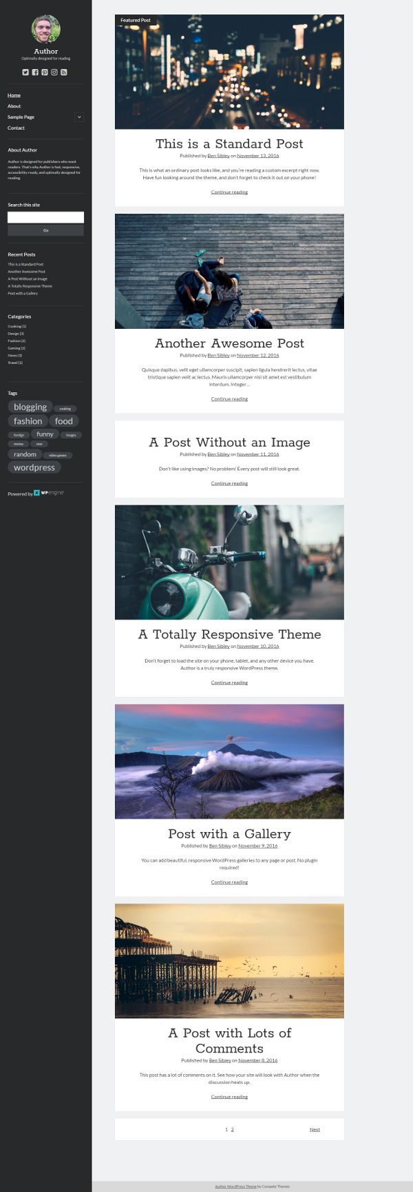 Author - Theme WordPress Gratis Untuk Blog