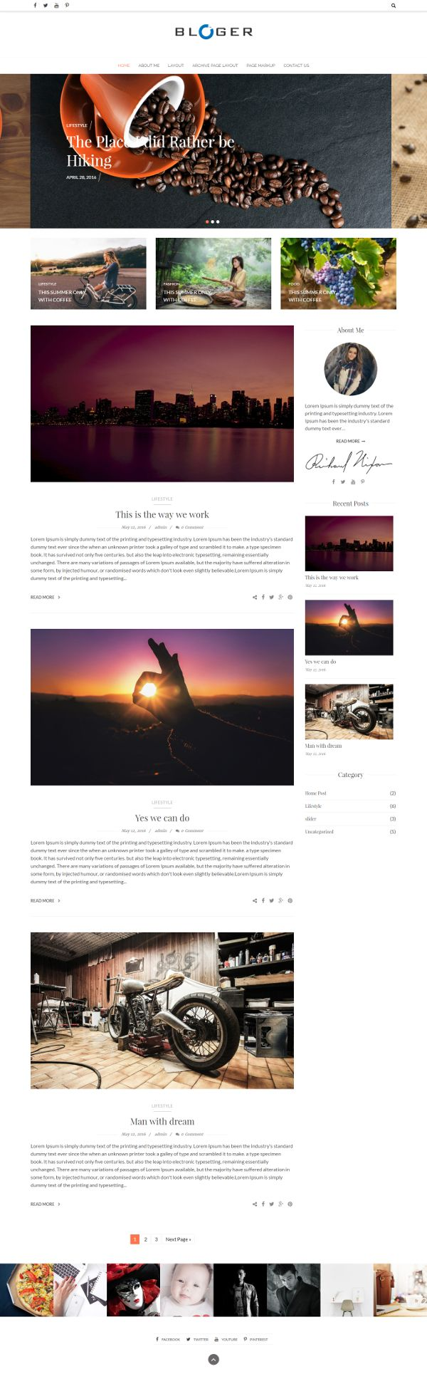 Blogger - Theme WordPress Gratis Untuk Blog