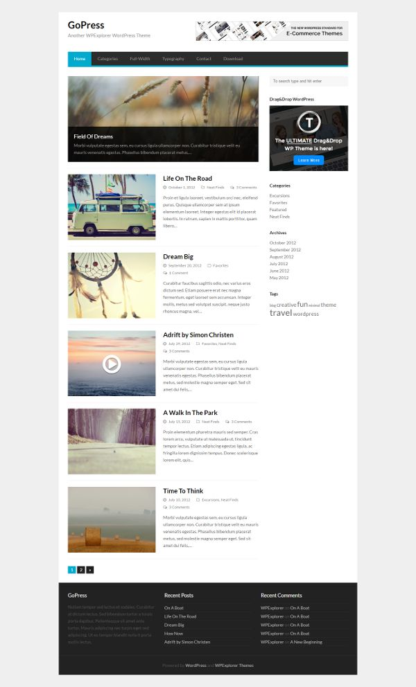 Gopress - Theme WordPress Gratis Untuk Blog