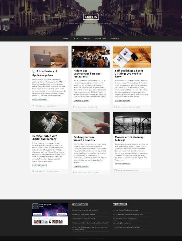 Griffin - Theme WordPress Gratis Untuk Blog