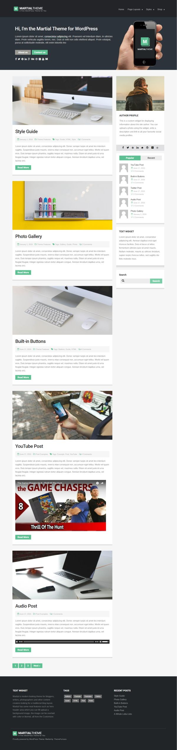 Martial - Theme WordPress Gratis Untuk Blog