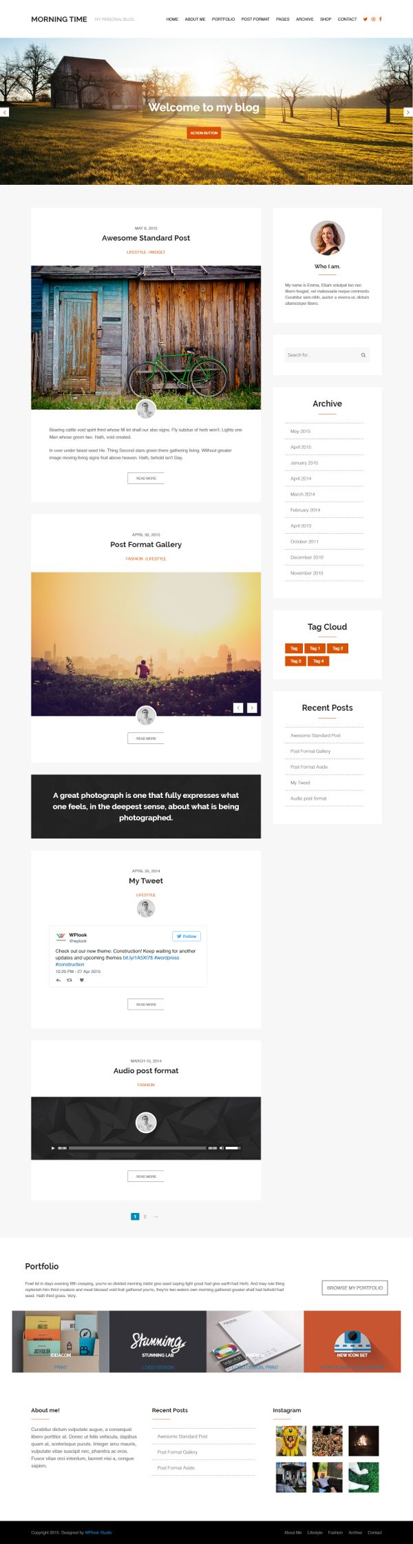 Morning Time - Theme WordPress Gratis Untuk Blog