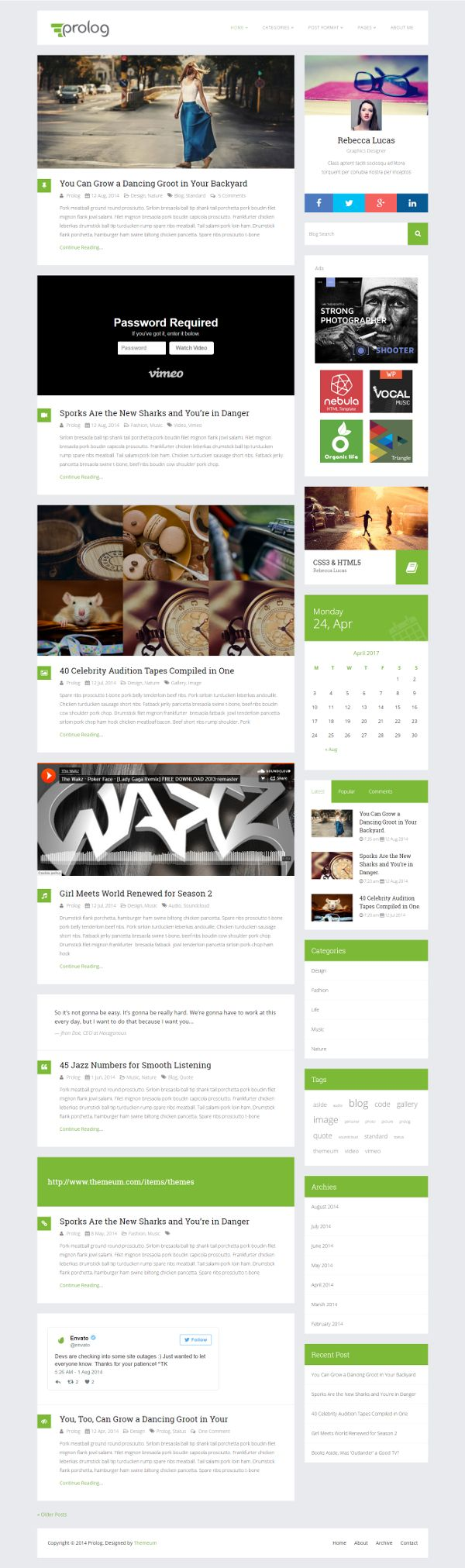 Prolog - Theme WordPress Gratis Untuk Blog