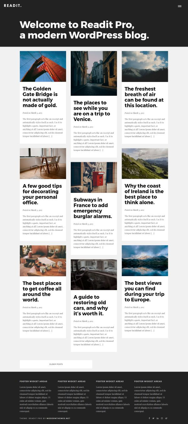 Readit - Theme WordPress Gratis Untuk Blog