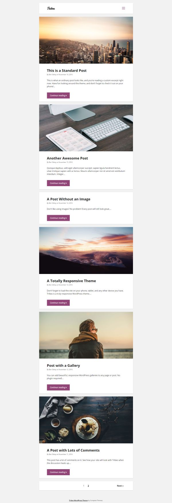 Tribes - Theme WordPress Gratis Untuk Blog