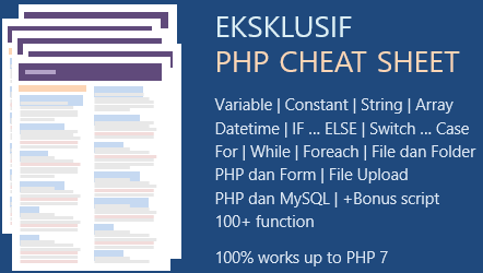 Cheat Sheet PHP Bahasa Indonesia - Free Download